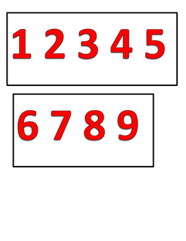 Number line Wall display