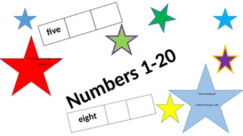 Number matching flashcards
