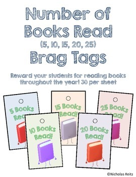 Number of Books Read Brag Tags