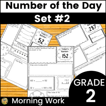 Number Sense - Number of Day!  Set #2 Word problems, numbe