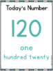 Number Sense Kindergarten (Number of the Day)