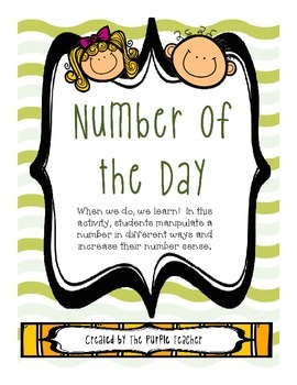 Number of the Day  5 templates-