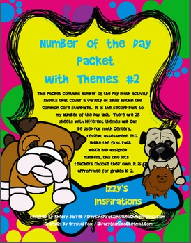 Number of the Day Activities Packet With Themes (Part 2)
