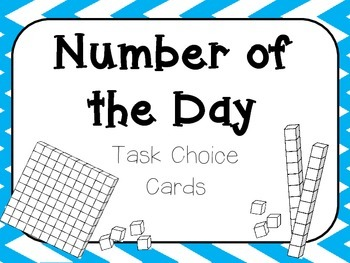 Number of the Day Activity Choice Cards