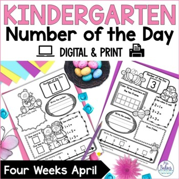 Number of the Day {April} Kindergarten Math