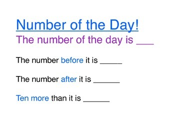 Number of the Day Common Core Morning Meeting Tool