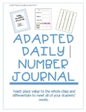 Number of the Day - Editable Student Journal