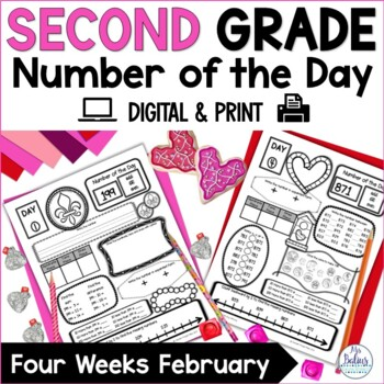 Second Grade Math Place Value Number of the Day February V