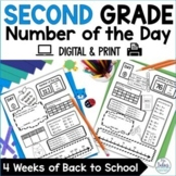 Back to School Place Value Second Grade Math Number of the Day