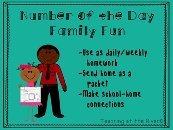 Family Fun Number of the Day/Number Talks Homework/Spring