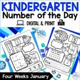 Winter Math Kindergarten Number of the Day