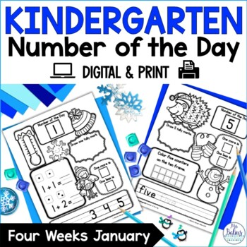 Number of the Day {January} Kindergarten Math
