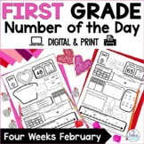 Number of the Day: Number Sense {February} First Grade Math