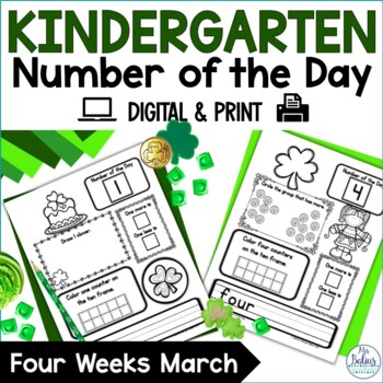 Number of the Day {March} Kindergarten Math