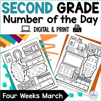 Second Grade Math Place Value {March} Number of the Day