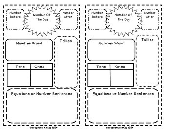 Number of the Day {FREEBIE} Math Journal Page