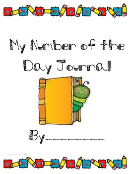 Number of the Day Math Journal Pages for Number Talks & Ce
