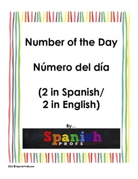 Blank Number of the Day/ Numero del Dia en blanco (Bilingual)