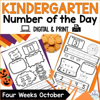 Number of the Day {October} Kindergarten Math