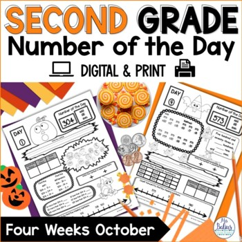 Place Value Second Grade Halloween Math Number of the Day Math