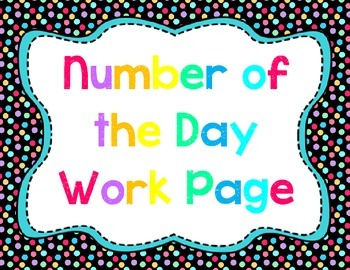 Number of the Day Page: Great Starter / Morning Work