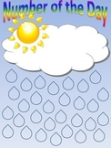 Number of the Day Sunny Sky with Raindrops Printable