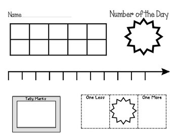 Number of the Day Templates