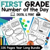 First Grade Number Sense {Bundle} Place Value Number of the Day
