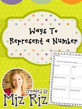Number of the Day:  Ways to represent a number!
