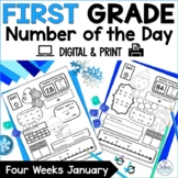 First Grade Math Place Value Number of the Day January