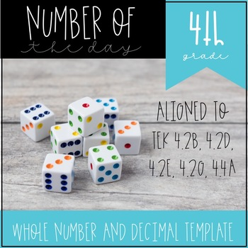 Number of the Day for 4th Grade