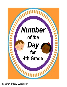 Number of the Day for Fourth Grade