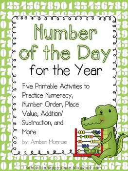 Number of the Day for the Year {Free Printables}
