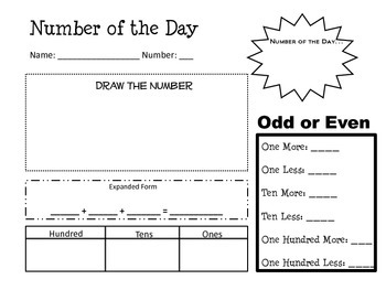 Number of the Day - math warm-up