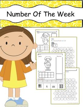 Number of the Week No Prep Worksheet (1 to 10)