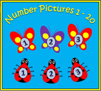 Number pictures 1 - 20