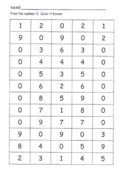 Number sense 0-9 puzzles bingo dobbers stamp ESL recogniti
