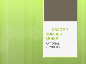 Number sense- Rational number