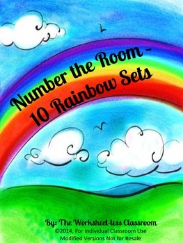 Number the Room - 10 Rainbow Sets