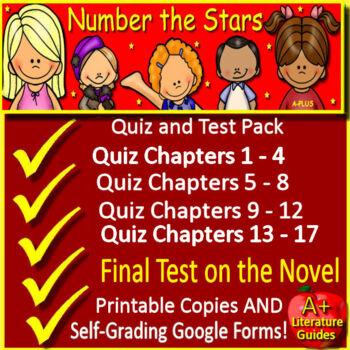 Number the Stars Novel Study Test Bundle