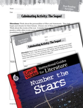 Number the Stars Post-Reading Activities