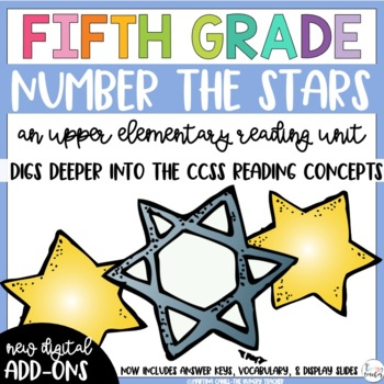 Fifth Grade Reading Unit - Number the Stars