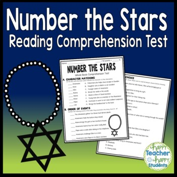 Number the Stars Test: Final Book Test with Answer Key