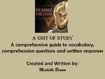 Number the Stars Unit of Study