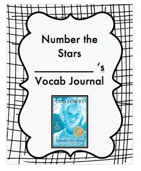 Number the Stars BUNDLE: Vocabulary Journal, Quizzes, Word