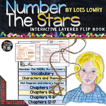 Number the Stars by Lois Lowry: Interactive Layered Flip Book