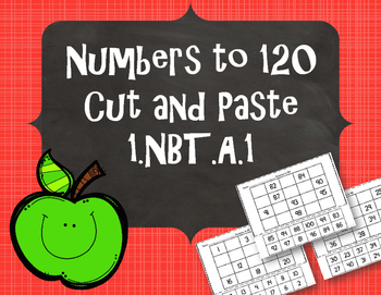 Numbers to 120 - Cut and Paste