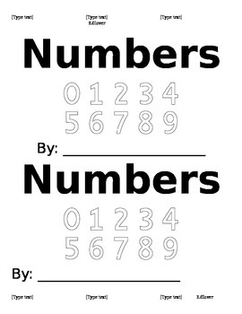 Number word writing book