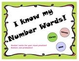 Number words practice games