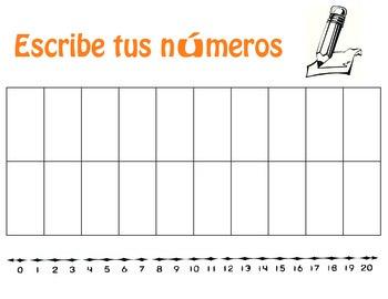 Number writing sheet/Spanish